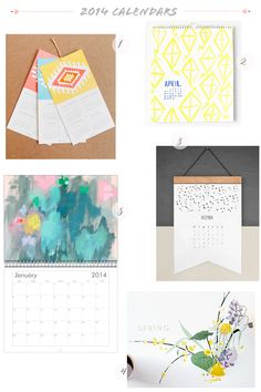 Oh So Beautiful Paper: Seasonal Stationery: 2014 Calendars, Part 5
