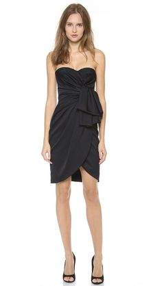 Your classic LBD with a special twist. satin dress, fashion, cloth, style, cocktail dresses, classic lbd, black bridesmaid dresses, special twist, stunning dresses
