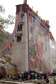 Shoton festival, Lhasa, Tibet