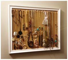 Cork Board Jewelry Organization