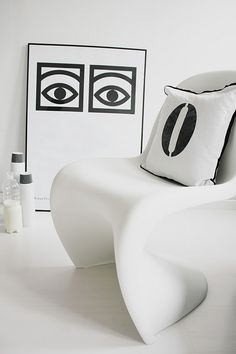 Chair designed by Verner Panton