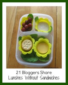 {Back to School} Lunches without Sandwiches ~ lots of creative lunch ideas