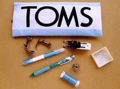 DIY pencil case using TOMS flags