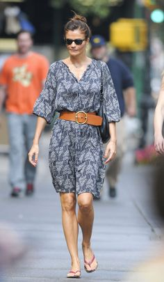 Helena Christensen's effortless summer style