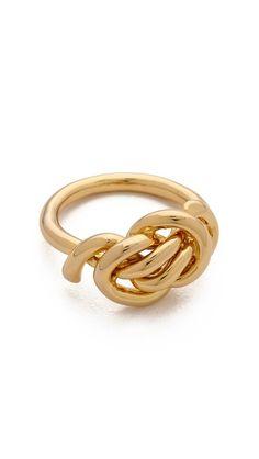 Rachel Zoe Love Me Knot Single Knot Ring