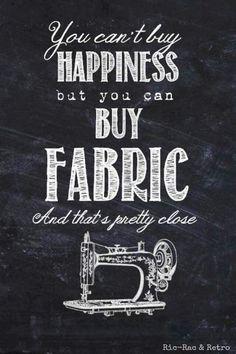 We are so happy when we buy fabrics, aren't we?