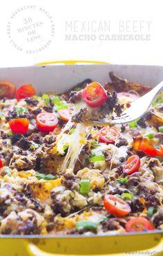 30-Minute Weeknight Meal: Beefy Nacho Casserole