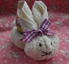 easter bunny from washcloth!