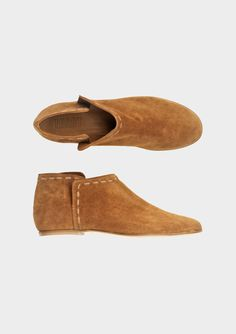 SUEDE ANKLE BOOT / toast