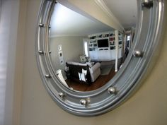 Silver Porthole Mirror makeover