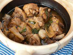 Three Cups Chicken Taiwanese-style