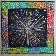 Fireworks embroidery by Catherine Redford