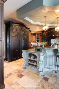 . decor, illinoi, traditional kitchens, dream, colors, luxury kitchens, hous, huge kitchen, beauti island