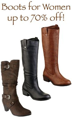 Boots for Women ~ up to 70% off!! #fashion #boots