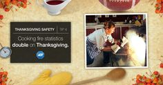 Avoid contributing to the #statistic! Stay alert when #cooking and keep a #FireExtinguisher nearby. #StaySafe #Thanksgiving #CookingSafety #ADT