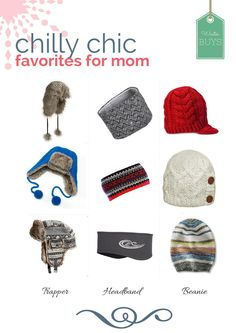 chic hats for ski mo