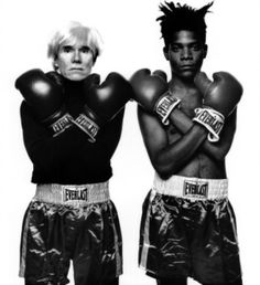 jean-michel basquiat artwork | Jean Michel Basquiat & Andy Warhol, by Michael Hasband
