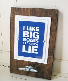 Framed 5x7 Quote Print with Boat Cleat Table Top by ProjectCottage, $34.00