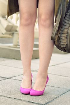 cute shoes and a nice pop of color