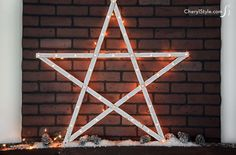 DIY lighted star for