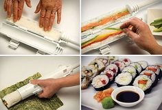 Sushi Bazooka: lets you make your own sushi in a hurry