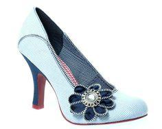 Ruby-Shoo shoes - Monroe blue pin-stripe