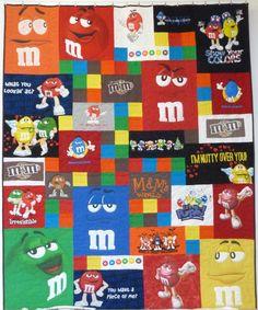 M&M; Tshirt quilt