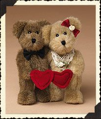 """Shawn and Dawn (Boyds Bear 6"""" retired) part of a set of bears my husband gave me on our 30th anniversary"""