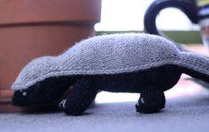Honey Badger Stuffie Pattern! I think I should make one for Mi my dachshund