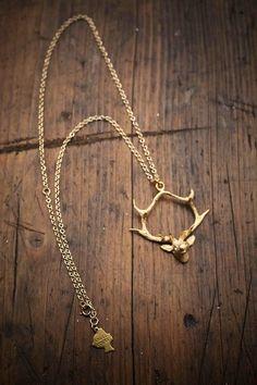 boot, deer necklac, gold hang, antler, country girls