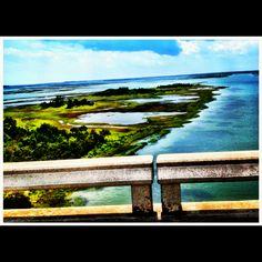 Emerald Isle, NC - View from the Emerald Isle Bridge...