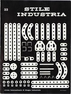 Stile Industria, International Magazine of Industrial Design, No. 33, August 1961; Cover Designer: Pino Tovaglia (1923–1977).