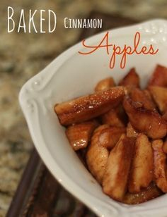 Baked Cinnamon Apples #recipes #apples