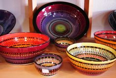 Beautiful Hand Painted Bowls - Rodger Allen Clay