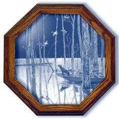 Incoming Duck Art Etched Small Octagon Mirror