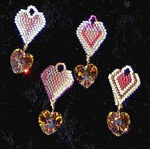 Valentine Heart Bail Collection by Charlotte Holley - Beaded Legends by Chalaedra at Bead-Patterns.com neat idea, bead pattern, earring pattern, heart bead, bead earring, pattern tutori, valentin heart