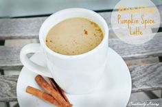 Healthy Pumpkin Spice Latte.  Maybe for after dinner or for just with friends.