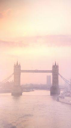 Hazy light over Tower Bridge in London