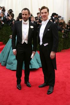 With designer Tom Ford at the 2014 Met Gala.