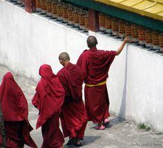 Monks in Sikkim by Rumtek Monastery. #wanderingsole