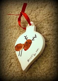Having Fun at Home: Thumbprint Reindeer Ornament