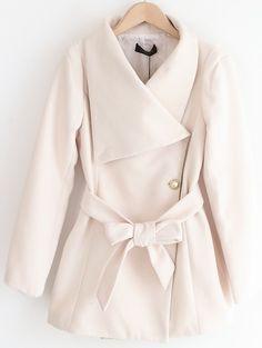 white coat. love it