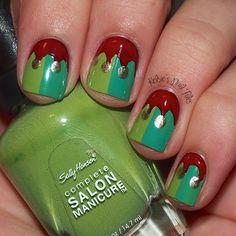 christmas nails, nail arts, quinn nail, nail nailart, christmas nail art, christma nail