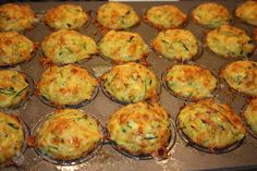 Zuchini Muffins! These are delicious and a great sneaky way to get Gibson eating his veggies :)