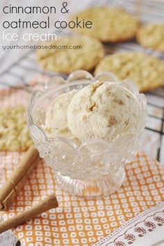 Cinnamon and Oatmeal Cookie Ice Cream