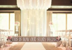 Stunning altar scene at POSTOAK Lodge. Photo by Imago Vita Photography. #wedding #altar #signage