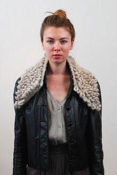 Markham alpaca wool loop collar