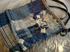 The little boro bag  http://spiritcloth.typepad.com/spirit_cloth/2010/01/the-story-of-the-little-rag-bag.html