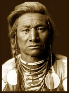 Chief Child, Crow Native American c. 1908. Photo by Edward S. Curtis.