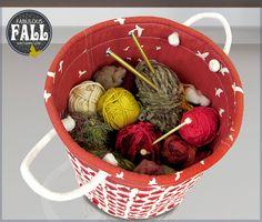 Jumbo Round Storage Tote: Fabulous Fall with Fabric.com   Sew4Home
